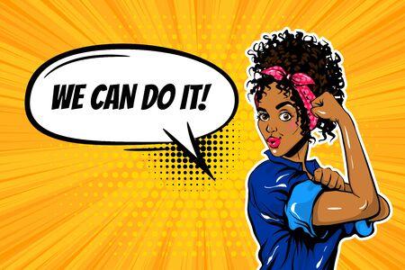 We can do it black woman girl power pop art