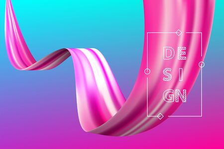 Abstract liquid flow design bright color motion Ilustrace