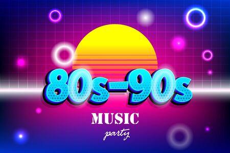 Retro background in 80s 90s pop art style