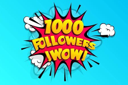 1000 followers thank you for media like