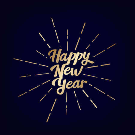 2021 Happy New Year vintage lettering text