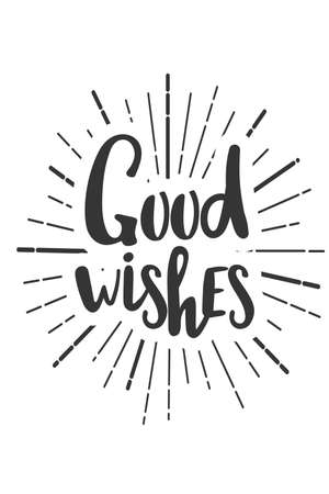 Good wishes Christmas wishes lettering in doodle style. 向量圖像