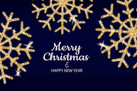 Merry Christmas and Happy New Year holiday invite poster