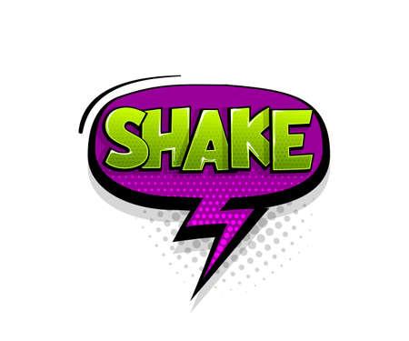 Comic text Shake speech bubble pop art style