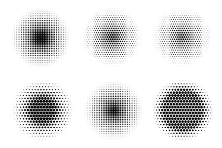 Isolated file halftone spray pop art dot illustration for shadow or volume for comic book 矢量图像
