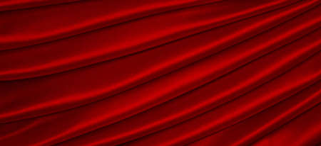 incarnadine: Satin fabric in red  Stock Photo