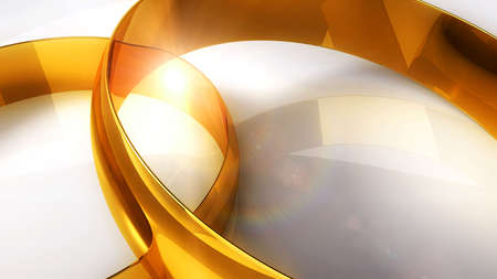 wedlock: Gold wedding rings on a light background and solar patches of light