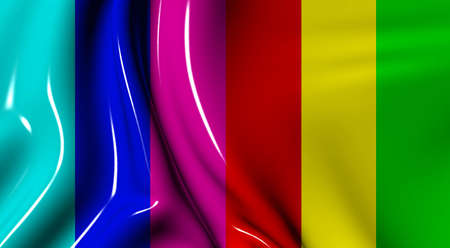 supple: Abstract background in a wave mode from plastic of of different colors Stock Photo