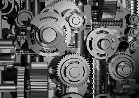 cogwheel: The three-dimensional model of an abstract arrangement of a gear