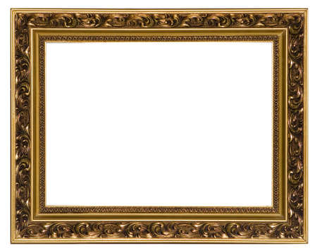 oldened: The gilt wooden frame for a picture