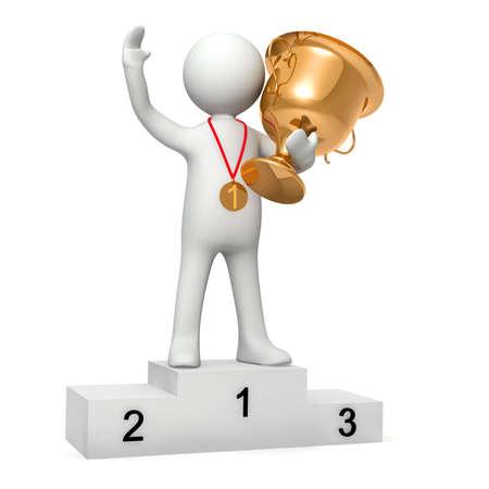 triunfador: Modelo tridimensional de la persona que gan� competiciones deportivas