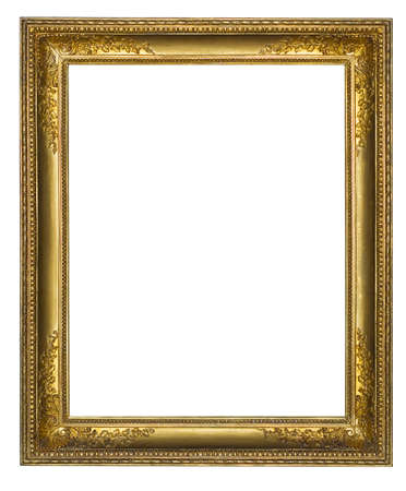 oldened: The gilt wooden frame for a picture  Stock Photo