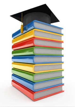 Palplanche compos� de plusieurs livres sur un fond blanc  Banque d'images - 5601997