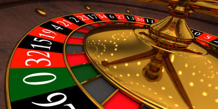 Three-dimensional model of a roulette in a casino photo