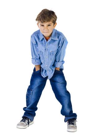 disobedient child: The 6-year-old boy with a kind of the disobedient  child Stock Photo