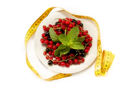 Red and black currant berries