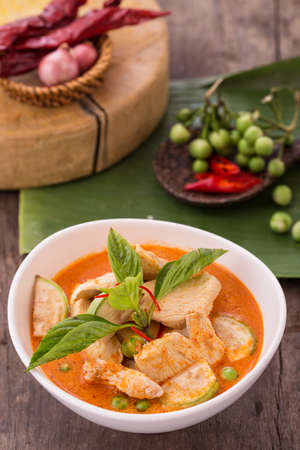 spicy chicken: thai red curry
