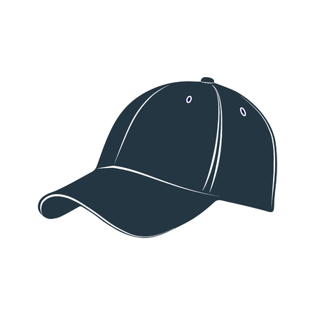visor: A cap with a visor for protection from the sun. Vector illustration. Illustration