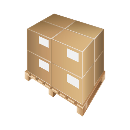 crates: The pallet for transport and storage crates, boxes. Vector illustration. Illustration