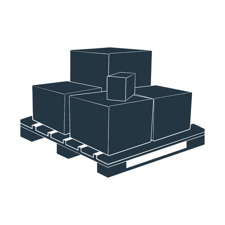 The pallet for transport and storage crates, boxes. Vector illustration. Vectores