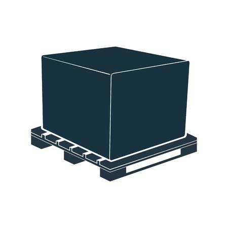 The pallet for transport and storage crates, boxes. Vector illustration. Ilustração