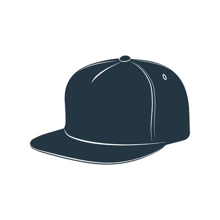 breton: A cap with a visor for protection from the sun. Vector illustration. Illustration