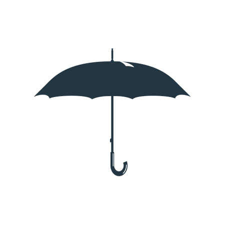 april showers: Rainy weather and an umbrella. Vector illustration.