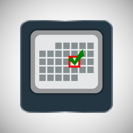 particular: calendar with the events on a particular day. vector illustration. Illustration