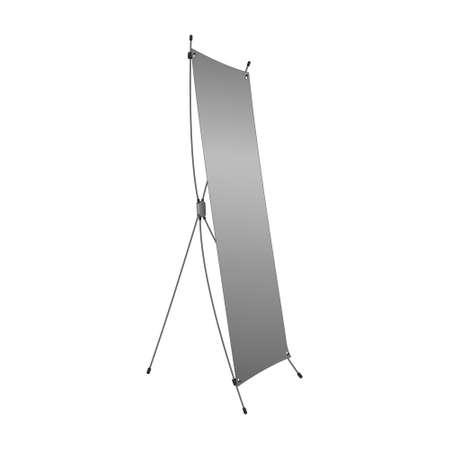 portative: Banner mobile stand for advertisement. Vector illustration. Illustration