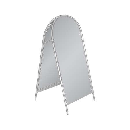 pillar box: advertising pillar of different designs. Vector illustration.
