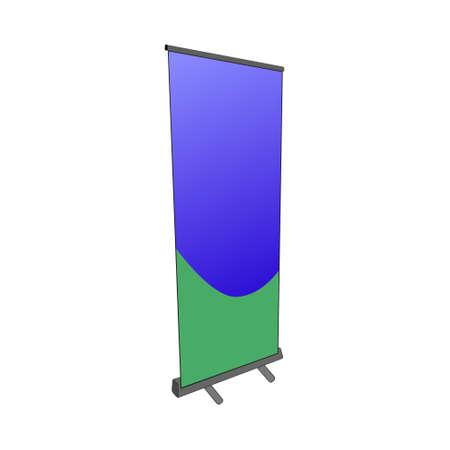 advertising pillar of different designs. Vector illustration.