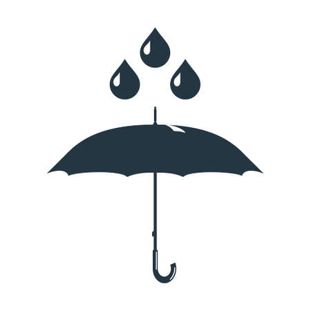 brolly: Rainy weather and an umbrella. Photo illustration. Stock Photo