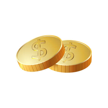 cent: A stack of round gold coins. Photo illustration.