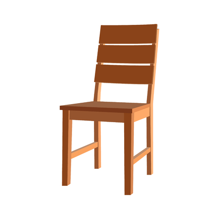 backrest: Icon chair with four legs. Vector illustration. Illustration