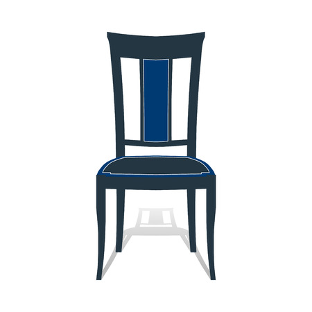 padded: Icon chair with four legs. Photo illustration.