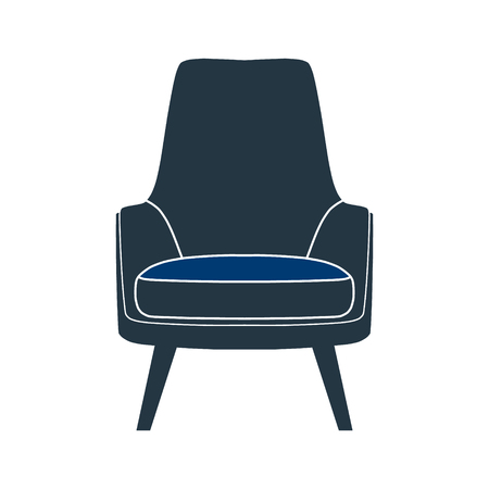 chaise: Icon chair with four legs. Vector illustration. Illustration