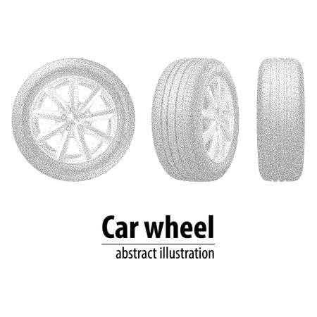 durability: Abstract wheels of the circles. illustration.