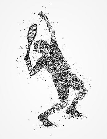 exhilaration: Abstract athlete of the circles. Photo illustration.