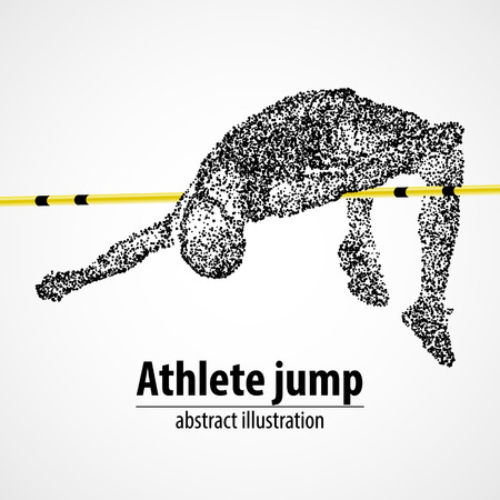 Abstract The athlete jumps in height of the black circles.