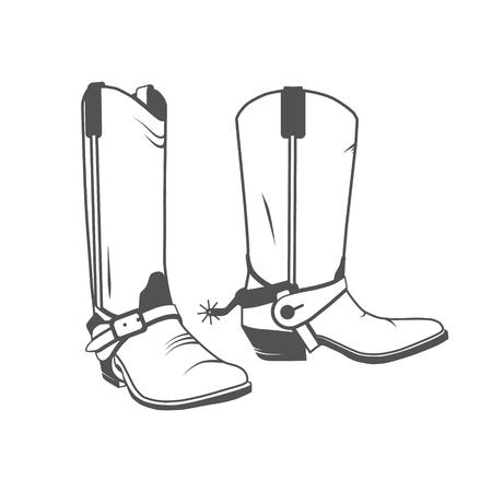 Zwei Vintage-Western-Cowboy-Stiefel.