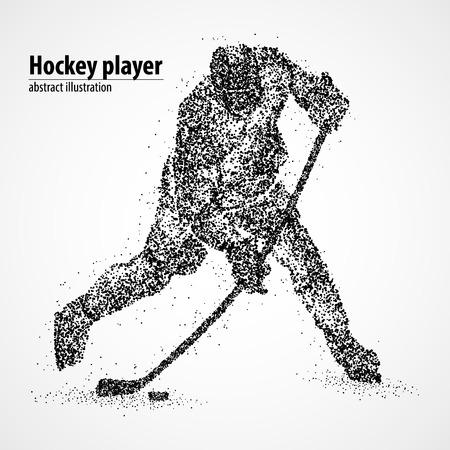 Abstract hockey player of the black circles.