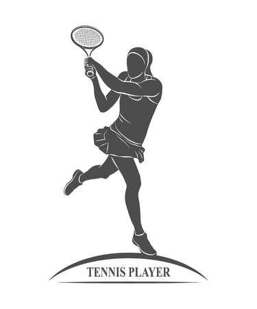 greco: Icon tennis player with a racket. Photo illustration.