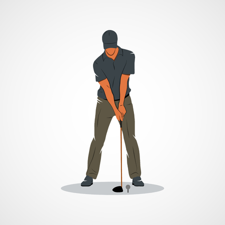 Golfer. Branding Identity Corporate design template Isolated on a white background