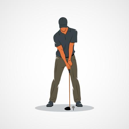 Golfista. La marca de identidad corporativa plantilla de diseño aislado en un fondo blanco