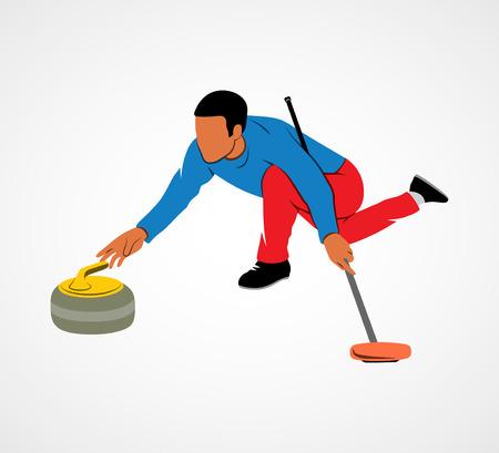 curling: Curling game sport