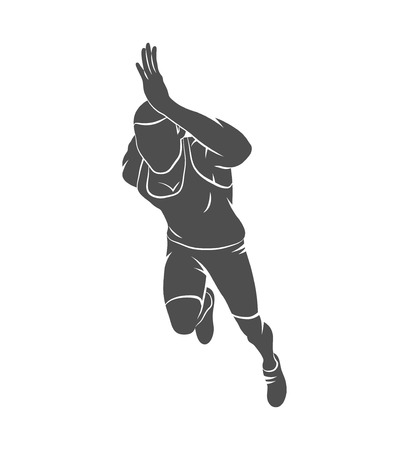 Silhouette runners on short distances sprinter on a white background. Photo illustration.