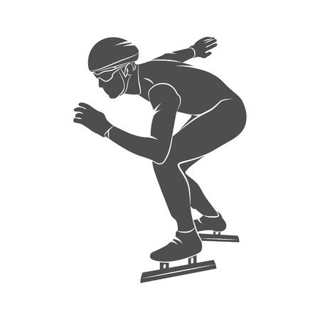 speed: silhouette speed skaters