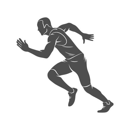 Courir, sprinter, athlète
