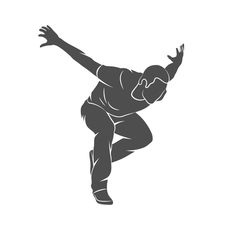 Parkour Jump Silhouette Illustration