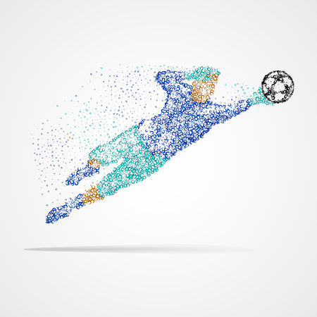 Football, soccer, goalkeeper Illustration